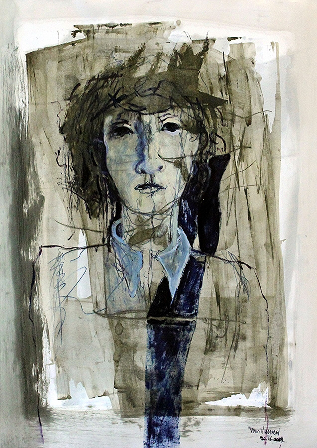 head of woman (oil on cartridge paper, 840×597 cm)