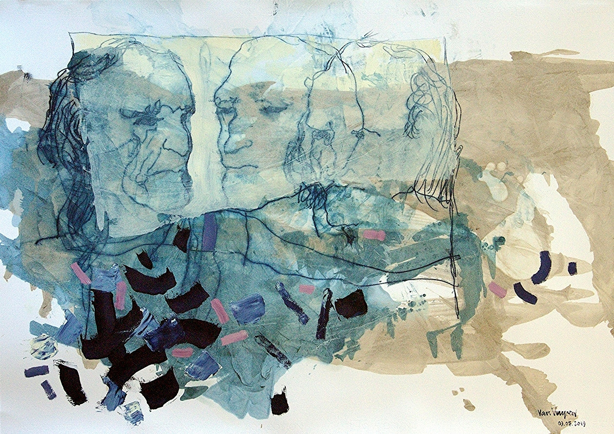 heads of state (oil on paper, 70×100 cm)