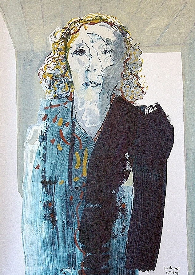 mrs minister (oil on paper, 100×70 cm)