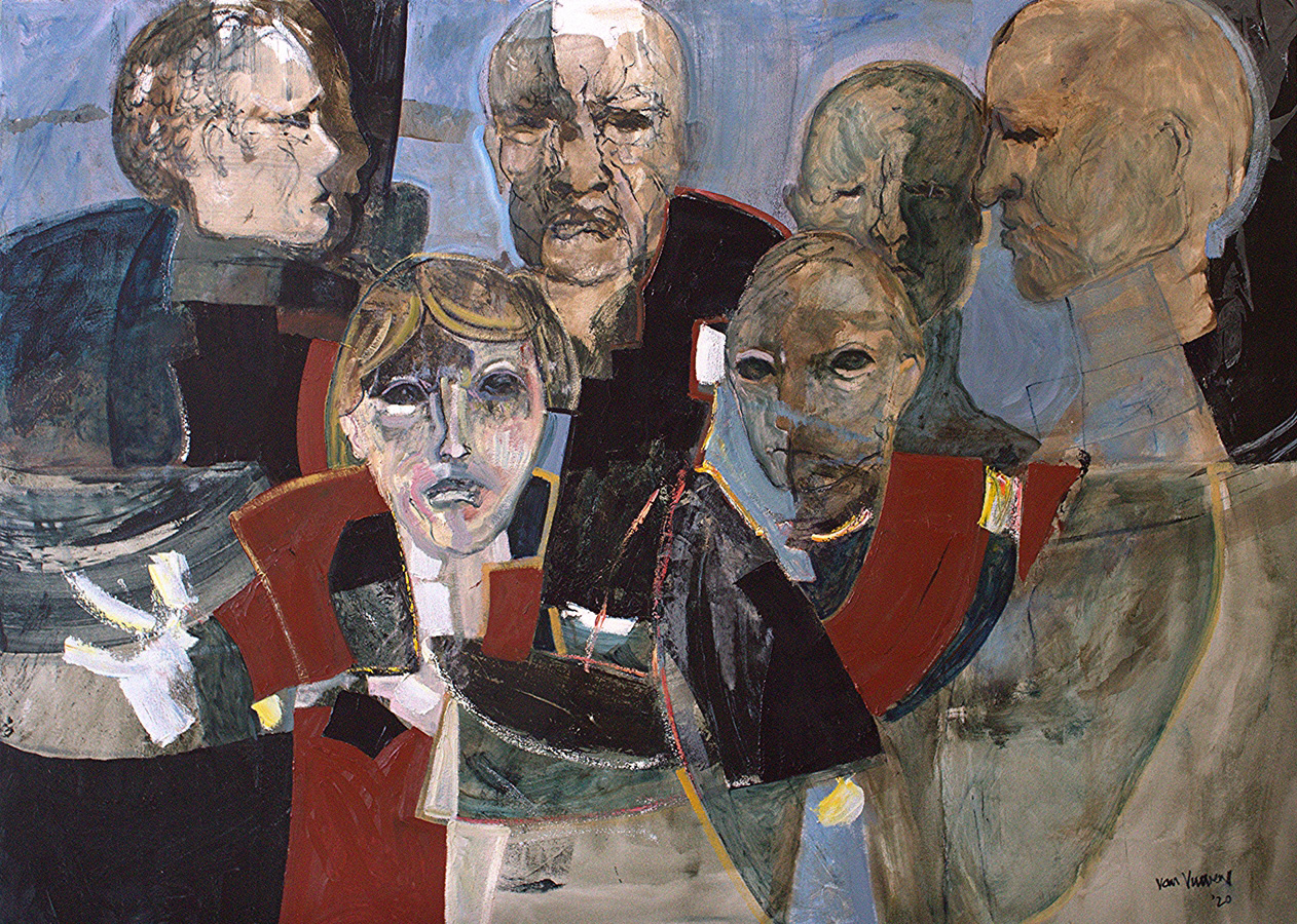 witnesses (oil on linen, 130×180 cm)