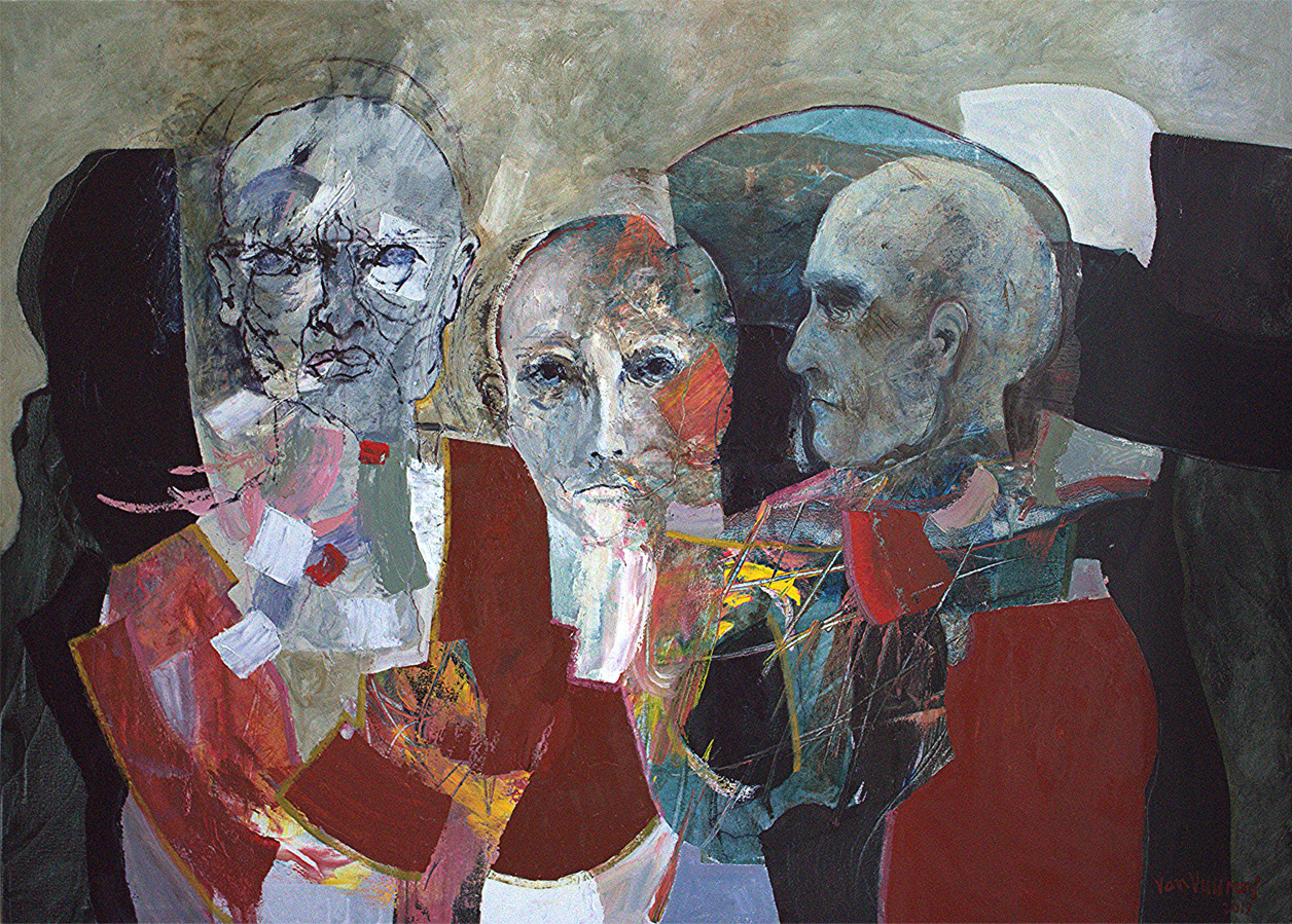 three accusers (oil on linen, 130×180 cm)